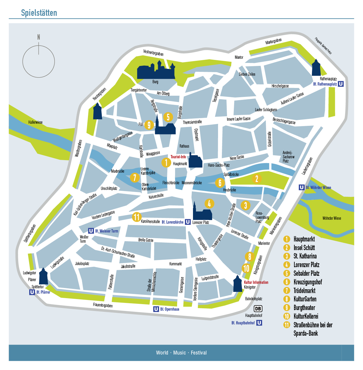 Nürnberg Sehenswürdigkeiten Plan